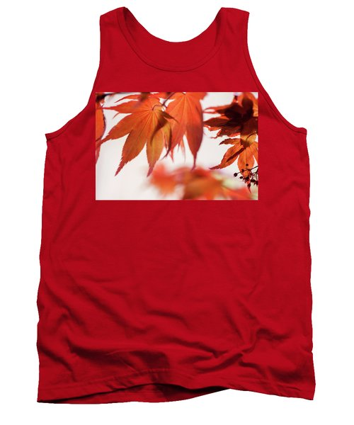 Imperfect Perfection. Red Maple Leaves Abstract 20 Tank Top