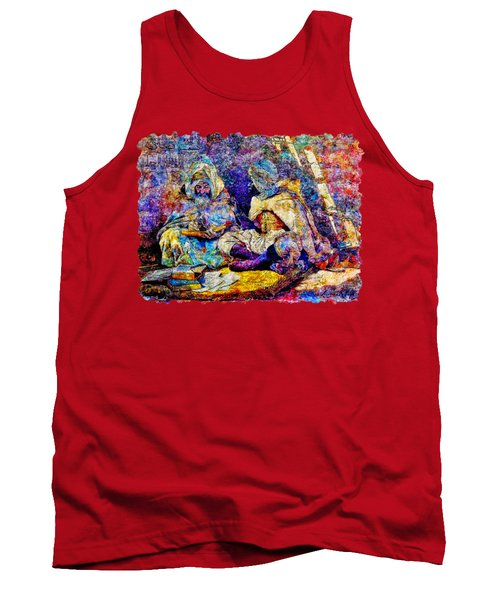 Impressionist Watercolor Drawing - Teacher Of Quran And Religion Tank Top