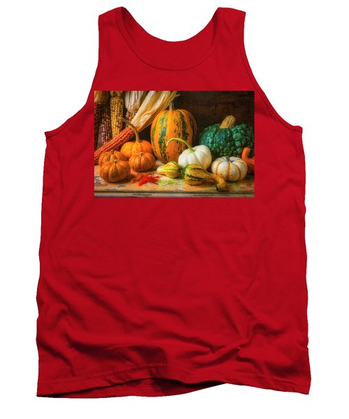 Indian Corn, Pumpkins And Gourds Tank Top