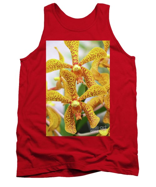 Intriguing Yellow Spider Orchids Tank Top