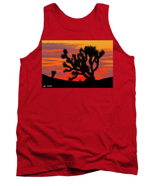 Joshua Tree At Sunset Tank Top