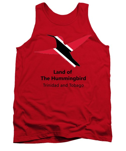 Tank Top featuring the digital art Land Of The Hummingbird by Rachel Lee Young