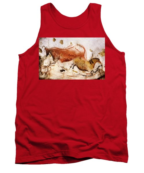 Lascaux Cow And Horse Tank Top