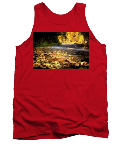 Leaves Along The Road Tank Top