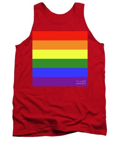 Lgbt 6 Color Rainbow Flag Tank Top