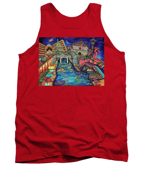 Lights On The Banks Of The River Tank Top