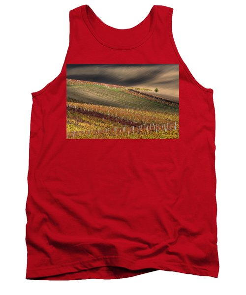 Line And Wine 1 Tank Top