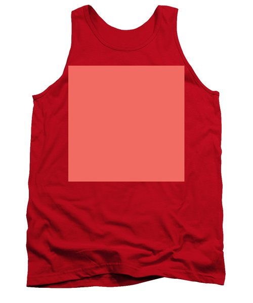 Tank Top featuring the mixed media Living Coral - Pantone Color Of The Year 2019 by Carol Cavalaris