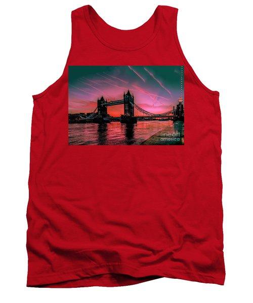 London Tower Bridge Sunrise Pano Tank Top