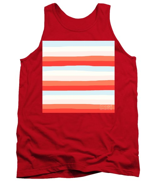 lumpy or bumpy lines abstract and colorful - QAB268 Tank Top