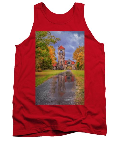 Tank Top featuring the photograph Mohonk Preserve Gatehouse  Ny Fall  by Susan Candelario