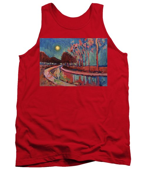 Moon Night At The Canal Tank Top