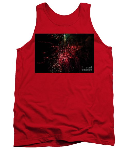 Mostly Red And White Fireworks Tank Top