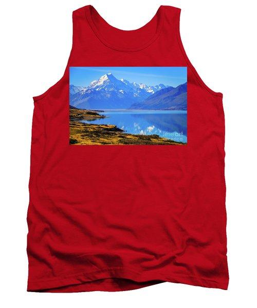 Mount Cook Overlooking Lake Pukaki,  New Zealand Tank Top