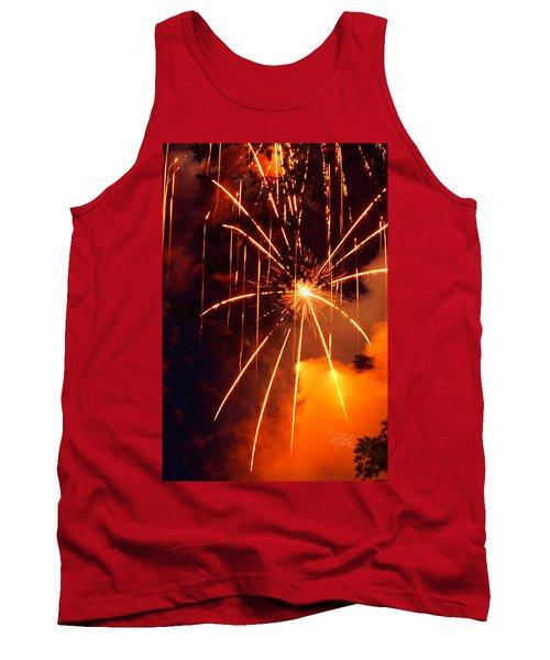 Orange Fireworks Tank Top