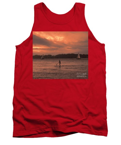 Paddleboarding On The Great Peconic Bay Tank Top