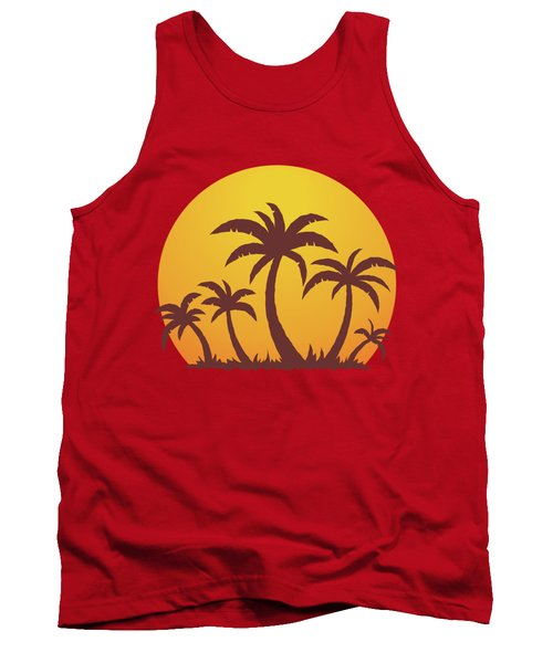 Palm Trees And Sun Tank Top