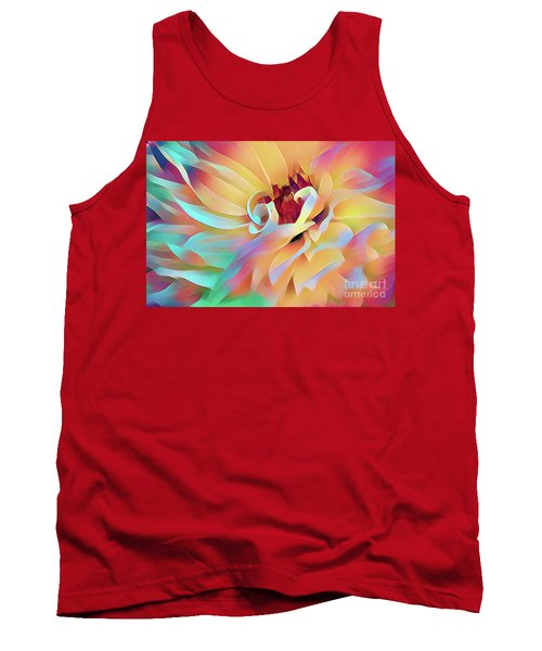 Party Time Dahlia Abstract Tank Top