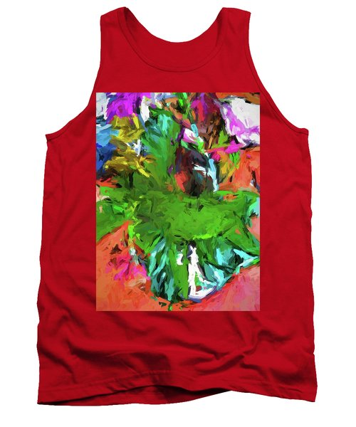 Plant With The Green And Turquoise Leaves Tank Top