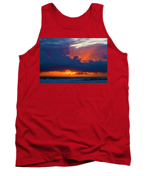 Rays Of Light Over The Ocean Tank Top