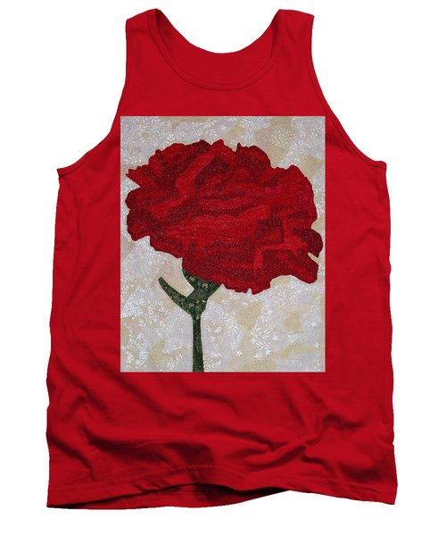 Red Carnation Tank Top