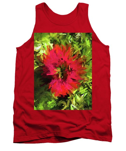 Red Flower Flames Tank Top