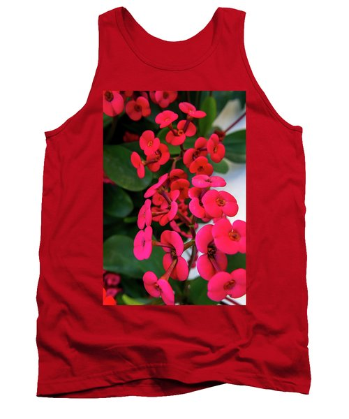 Red Flowers In Bloom Tank Top