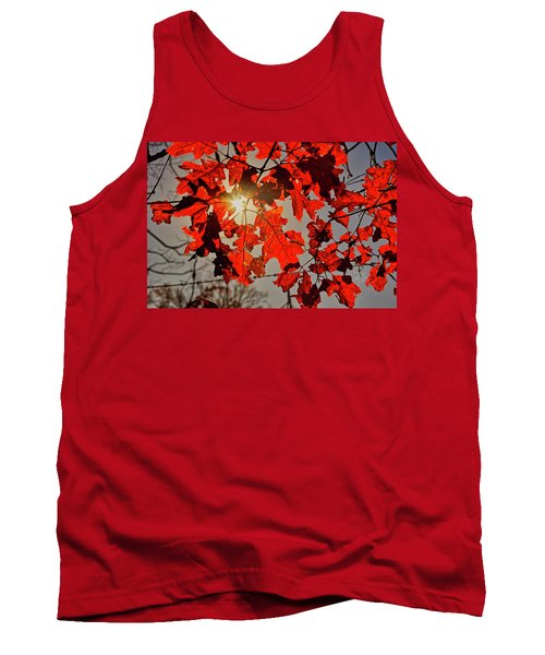 Red Leaves Tank Top