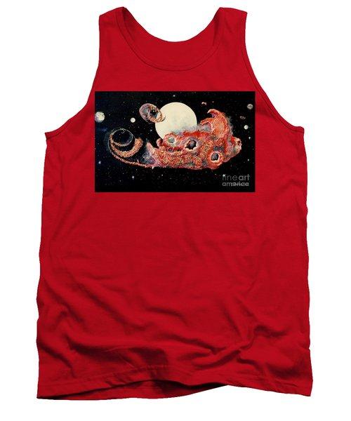 Red Nebula Tank Top