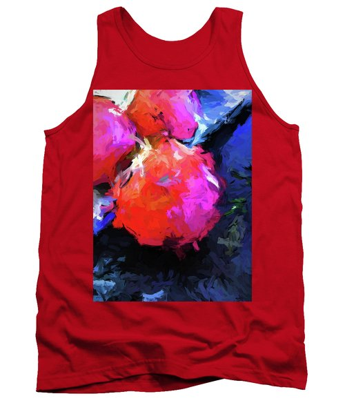 Red Pomegranate In The Blue Light Tank Top