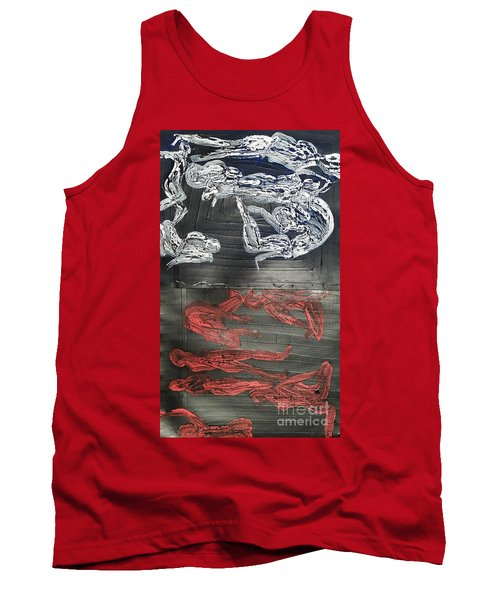 Red Strangles White Cells Tank Top