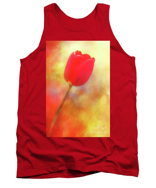 Red Tulip Reaching For The Sun Tank Top