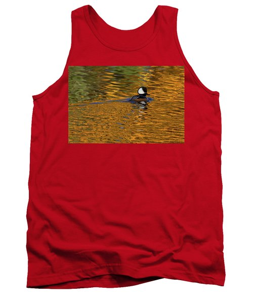 Reflecting With Hooded Merganser Tank Top