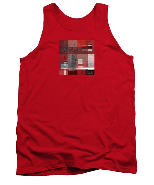 Reflection On A Red Plaid Tablecloth Tank Top