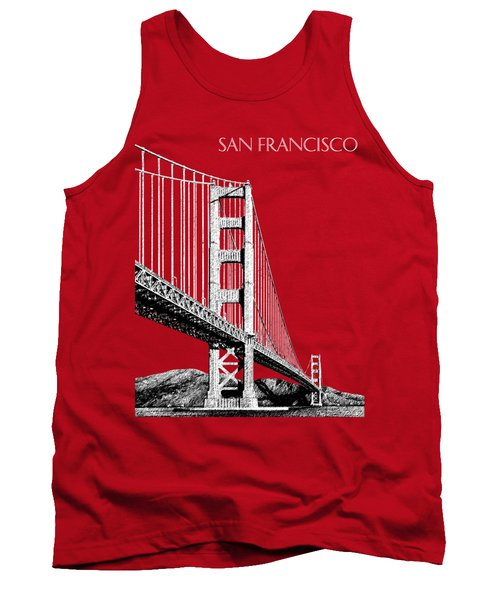 San Francisco Skyline Golden Gate Bridge 2 - Slate Blue Tank Top