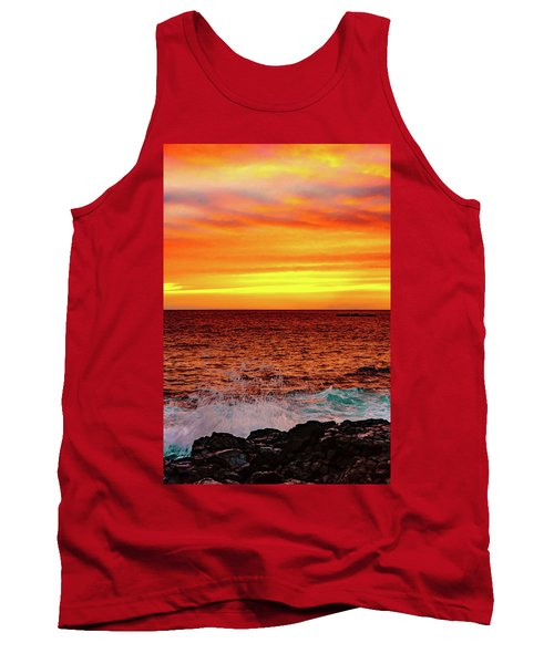 Simple Warm Splash Tank Top