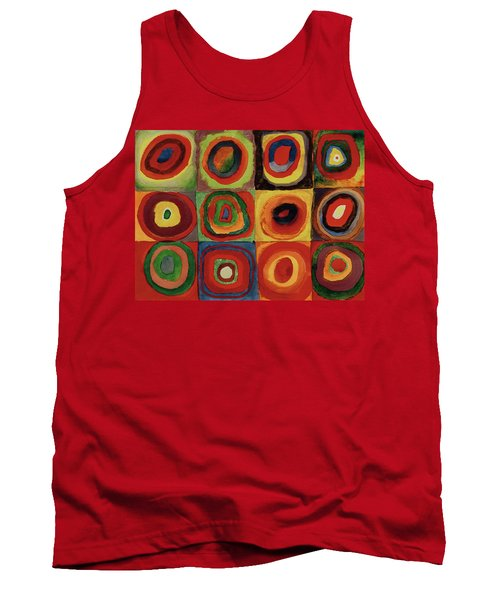 Squares With Concentric Circles 1913  Tank Top