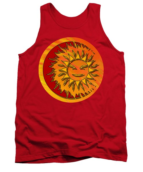 Sun Eclipsing The Moon Tank Top