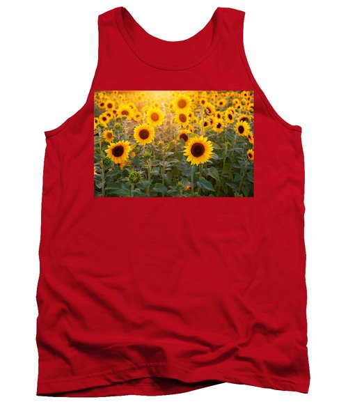 Sunflowers Field Tank Top