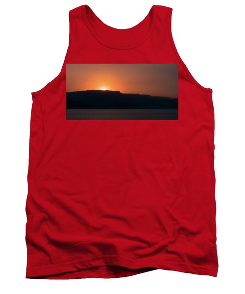 Sunset At Over The Mountains In The Red Sea Tank Top