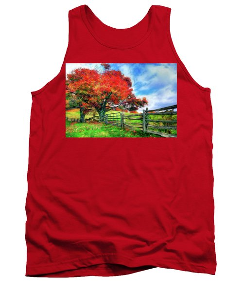 The Beauty Of A Blue Ridge Autumnl Ap Tank Top