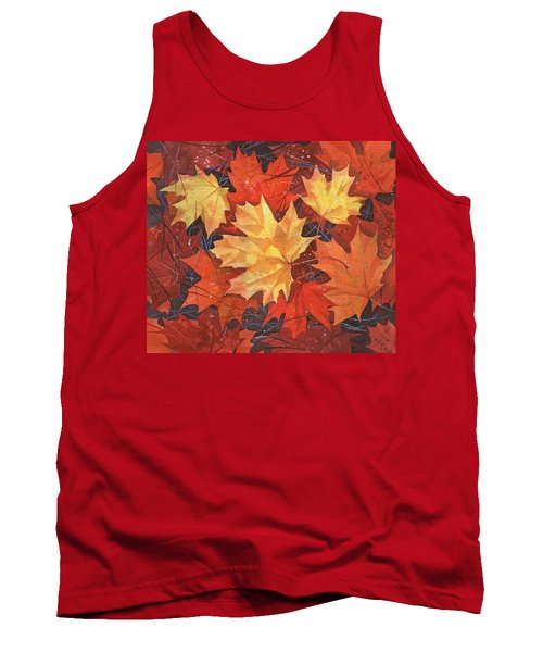 The Poem Of Autumn Leaves Tank Top