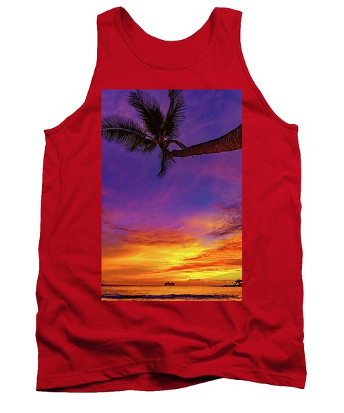 Vibrant Kona Inn Sunset Tank Top