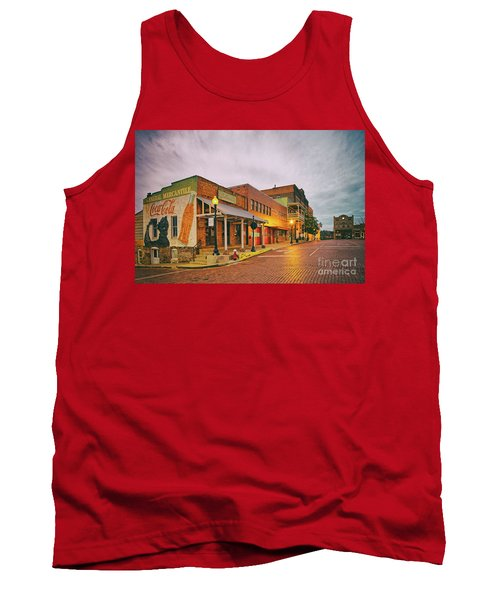 Vintage Photograph Of General Mercantile And Oldtime Spring Shop In Downtown Nacogdoches - Texas  Tank Top