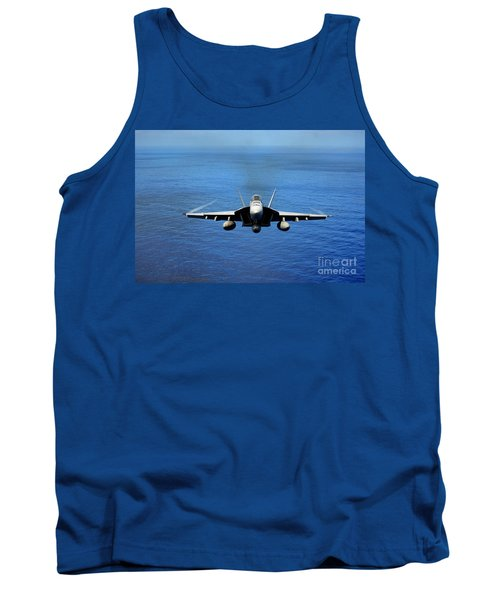 Tank Top featuring the photograph  A Fa-18 Hornet Demonstrates Air Power. by Paul Fearn