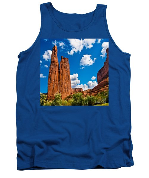 Canyon De Chelly Spider Rock Tank Top by Bob and Nadine Johnston