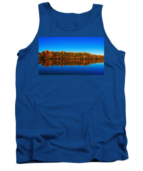 Tank Top featuring the photograph Autumn Reflections by Andy Lawless