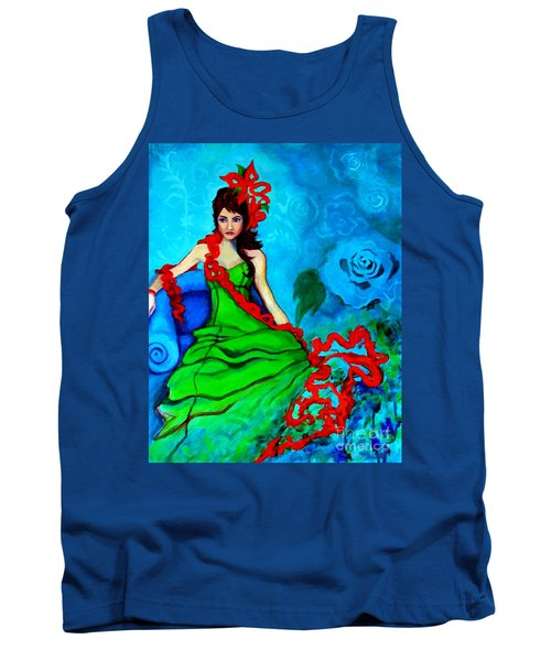 Blue Compliments Tank Top