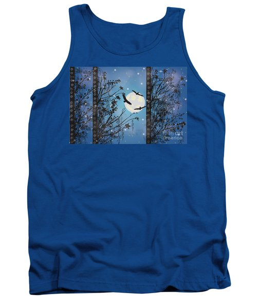 Tank Top featuring the digital art Blue Winter by Kim Prowse