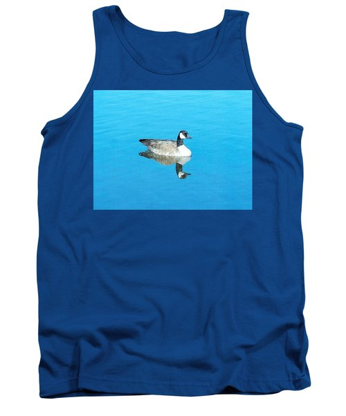 Tank Top featuring the photograph Mirror Goose by Kerri Mortenson